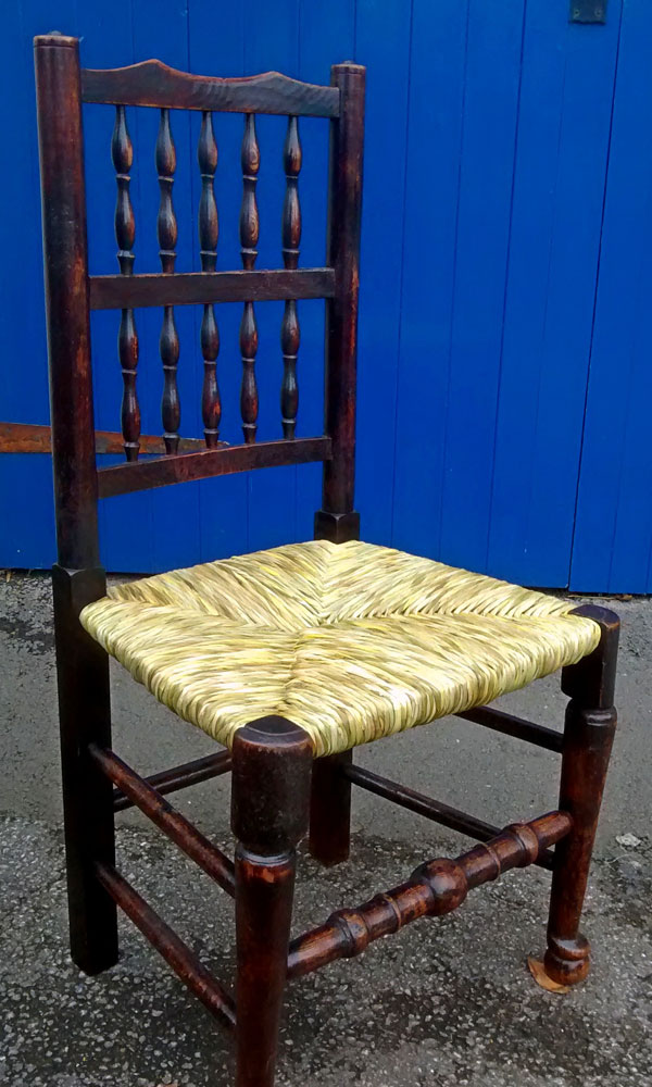Antique chair with restoration completed